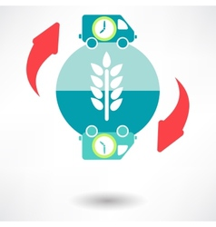 Time delivery icon vector