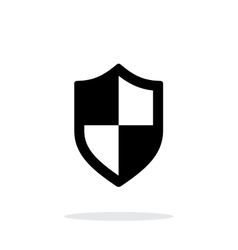 Shield icon on white background vector