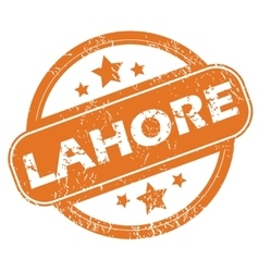 Lahore round stamp vector