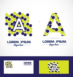 Letter a polygon bubble logo vector