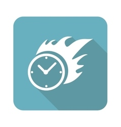 Square burning time icon vector