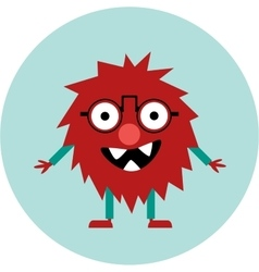 Freaky cute retro hipster alien monster vector