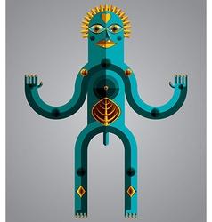 Pagan symbol spiritual cult theme Modernis vector image