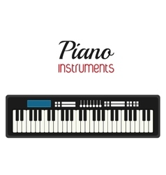 Piano icon music instrument graphic vector
