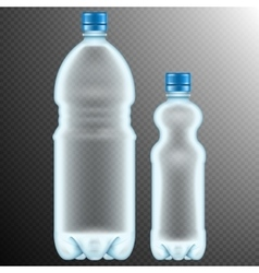 Plastic bottles transparent eps 10 vector