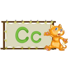 Alphabet letter on a canvas vector image vector image