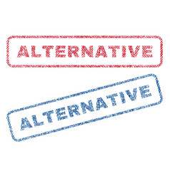 Alternative textile stamps vector