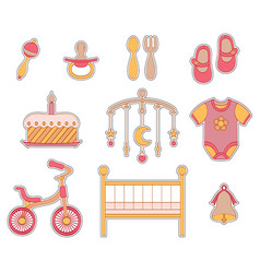 Baby girl icon vector