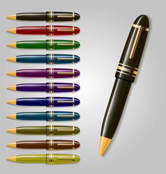 Collection of pens vector