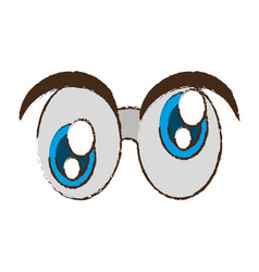 Crazy eyes april fools image vector