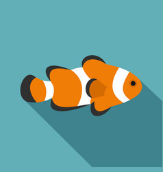 Fish clown icon flat style vector
