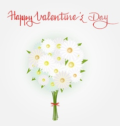 Hand written quote Happy Valentines day and vector image vector image