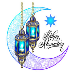 Happy ramadan design for greeting card vector