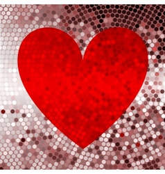 Holiday red abstract background with hearts vector image