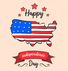 Independence day colorful style card vector