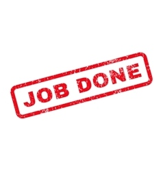 Job done text rubber stamp vector