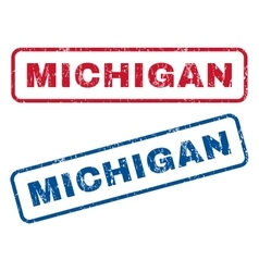 Michigan rubber stamps vector