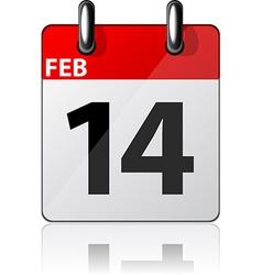 Modern calendar icon vector image