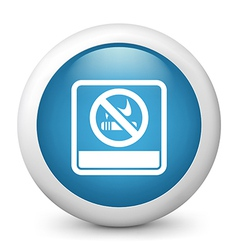 no smoking glossy icon vector image vector image