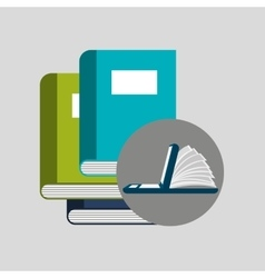 Online learning books education vector