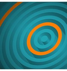 Orange circle vector image vector image