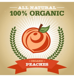 Organic Peach vector image vector image