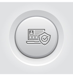 Personal Security Icon vector image vector image