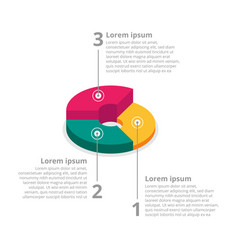 pie chart on isolated background isometric pie vector image vector image