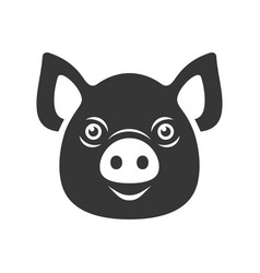 pig icon dark logo on white background vector image vector image