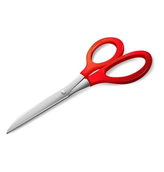 Red scissors vector