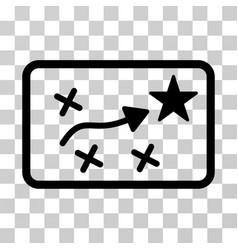 Route plan icon vector