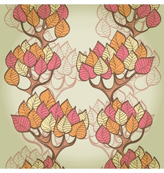 Seamless autumn background vector image vector image