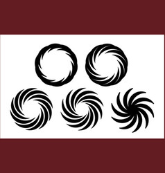 set of monochrome sign vector image