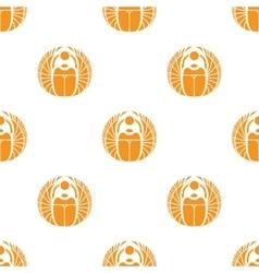 Simple orange scarab seamless pattern vector