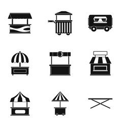 Street food truck icon set simple style vector