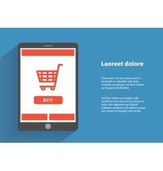 Tablet pc with buy button on the screen online vector