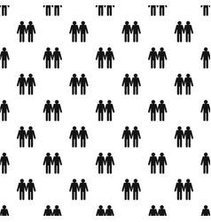 Two men gay pattern vector