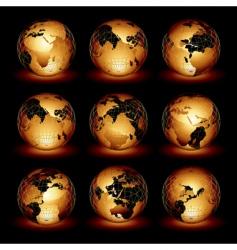 world set vector image