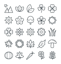 Nature Cool Icons 3 vector image