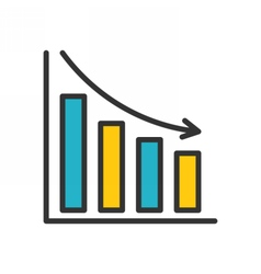 Bar chart outline icon vector