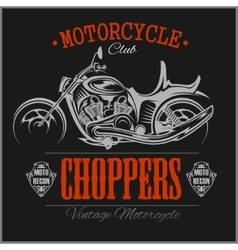 Motorcycle chopper logo vintage garage vector