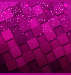 Square mosaic 3d modern colorful texture composed vector