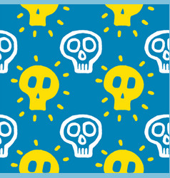 Skull with cross-bones vector