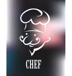 Chef icon on a shiny surface vector image