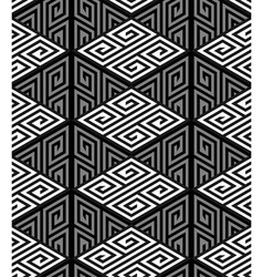 3d zig zag cube holes op art seamless pattern vector