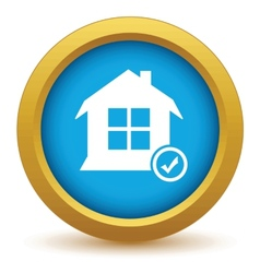 Selected house icon vector