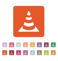 The traffic cone icon safety and attention vector
