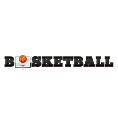 Basketball word art vector