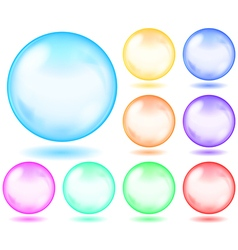 Set of opaque glass spheres vector