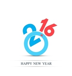 Colorful text design happy new year 2016 vector